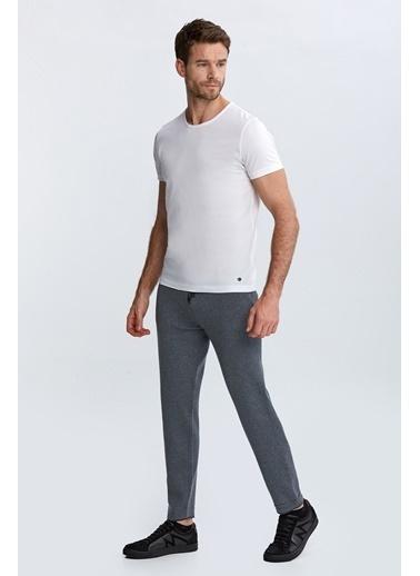 Hemington Extrafine Merino Koyu Loungewear Triko Pantolon Gri